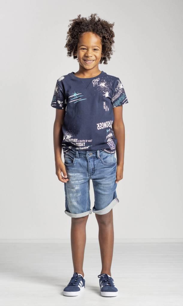 Quapi Quapi T-shirt Saim navy text