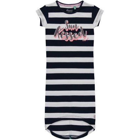 Quapi Quapi jurk Simone navy block stripe