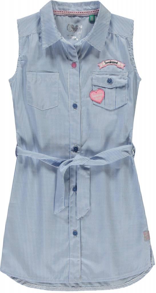 Quapi Quapi jurk Shiela blue stripe