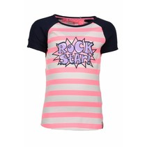 T-shirt raglan stripe bubblegum