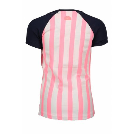 B.Nosy B.Nosy T-shirt raglan stripe bubblegum
