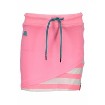 Rokje with double layer front, fancy tape at waistband bubblegum