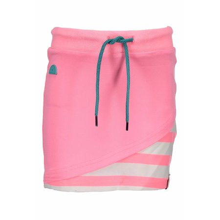 B.Nosy B.Nosy rokje with double layer front, fancy tape at waistband bubblegum