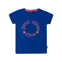 T-shirt good vibes only blue