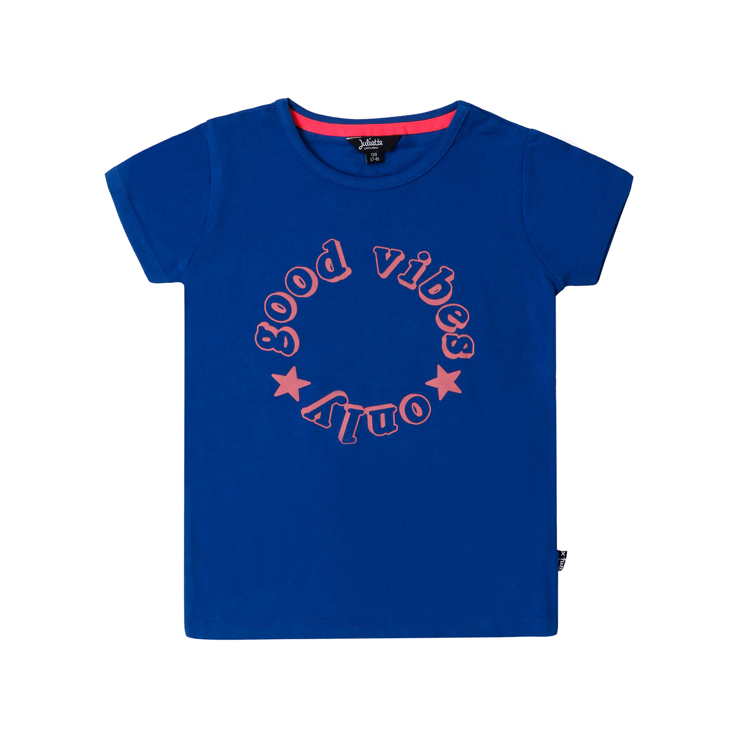 Little Miss Juliette Little Miss Juliette T-shirt good vibes only blue