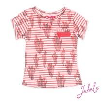 T-shirt streep/aop la isla koraal