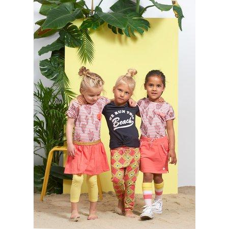Jubel Jubel T-shirt streep/aop la isla koraal