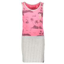Jurk with aloha top and stripe skirt ao bubblegum