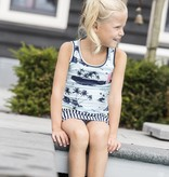 B.Nosy B.Nosy jurk with aloha top and stripe skirt ao sky delight