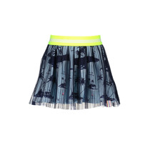 Rok with netting plissee midnight blue