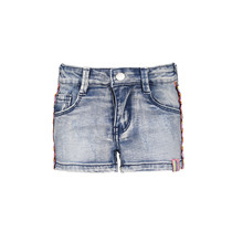 Short with tape on the side light denim