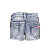 B.Nosy B.Nosy short with tape on the side light denim