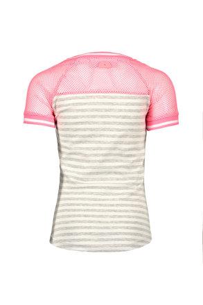 B.Nosy T-shirt raglan stripe grey melee silver lurex