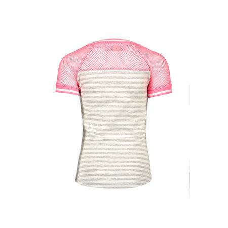 B.Nosy B.Nosy T-shirt raglan stripe grey melee silver lurex