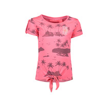 T-shirt knot with ao print aloha pink ao bubblegum