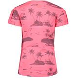 B.Nosy B.Nosy T-shirt knot with ao print aloha pink ao bubblegum