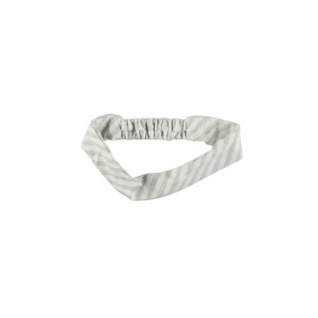 B.Nosy B.Nosy haarband y/d stripe grey melee silver lurex