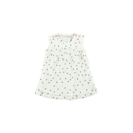 Bampidano Bampidano jurkje woven dots white