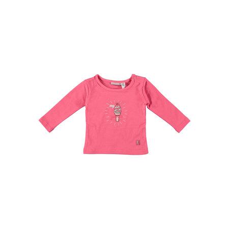 Bampidano Bampidano longsleeve girls plain dark pink
