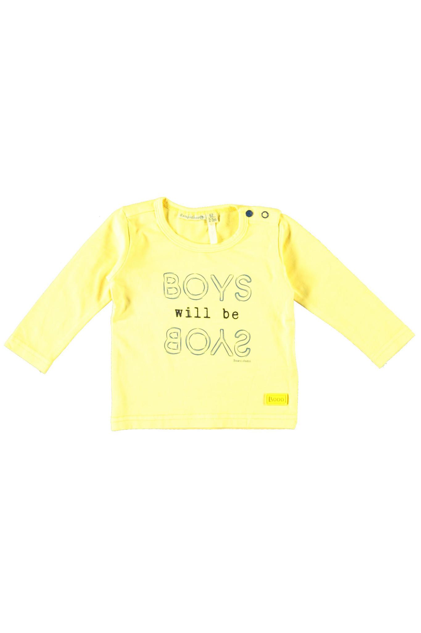 Bampidano Bampidano longsleeve boys plain neon yellow