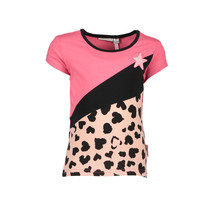 T-shirt multi color block dark pink