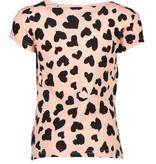 Bampidano Bampidano T-shirt allover print + shoulder fringes pink