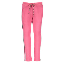 Broek knitted stripe tape dark pink