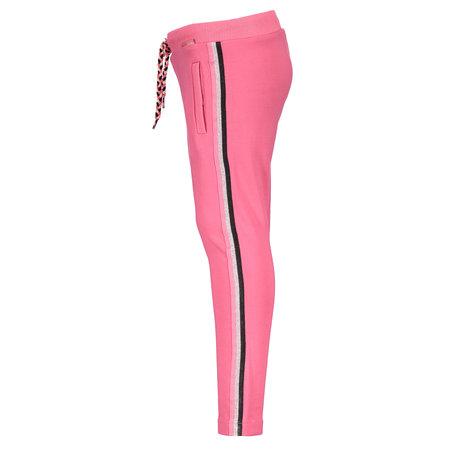 Bampidano Bampidano broek knitted stripe tape dark pink