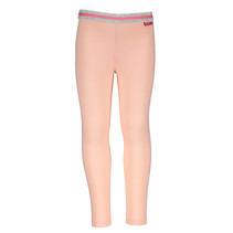 Legging plain + stripe elastic waist light pink