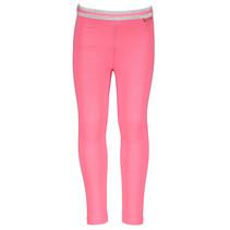 Legging plain + stripe elastic waist dark pink