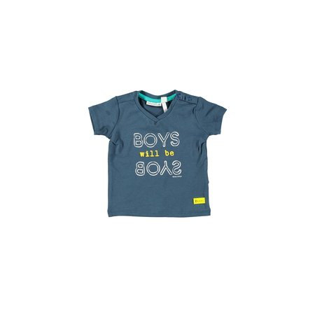 Bampidano Bampidano T-shirt boys plain v-neck blue