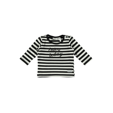Bampidano Bampidano longsleeve y/d stripe black/white