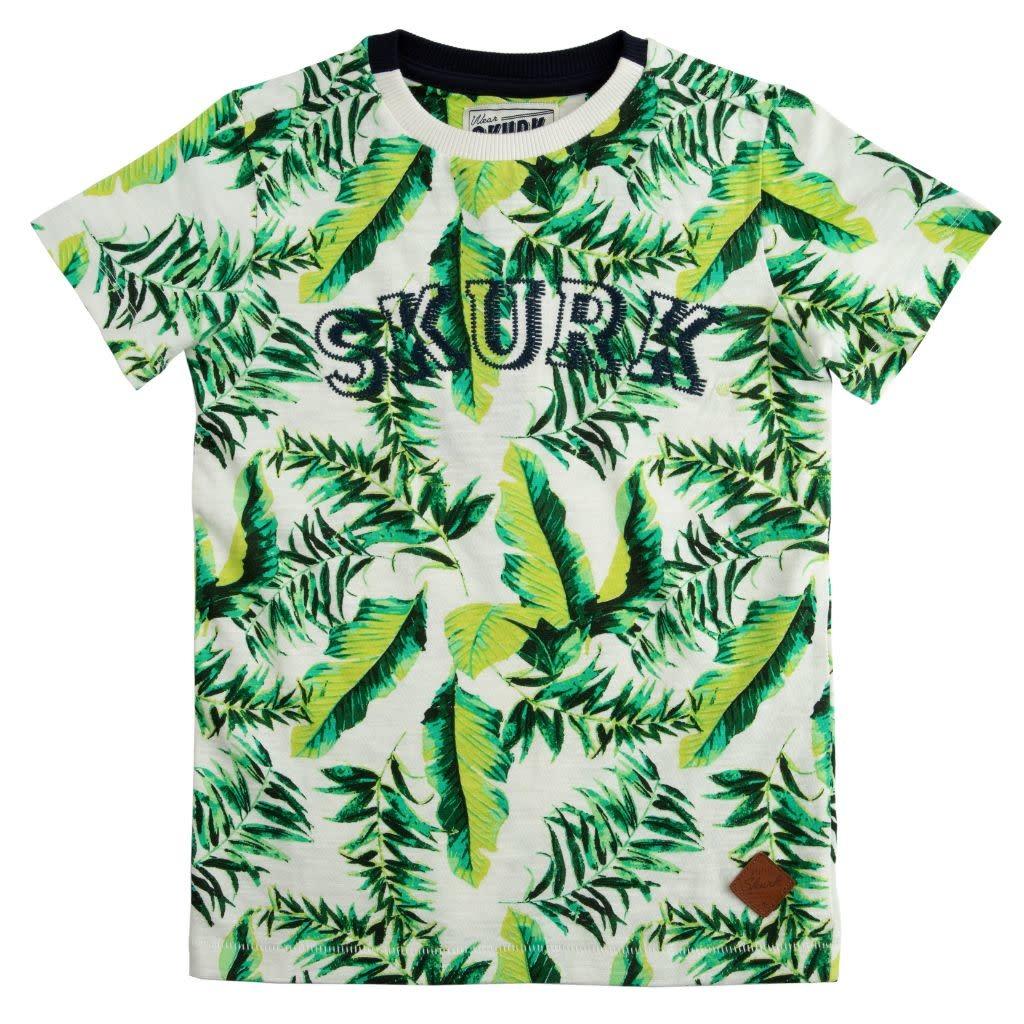 SKURK SKURK T-shirt Teaves snow white