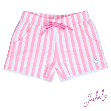 Jubel Jubel short streep discodip roze