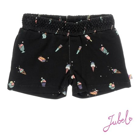 Jubel Jubel short aop discodip zwart