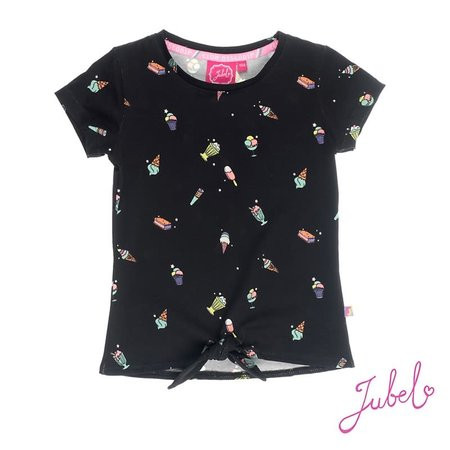 Jubel Jubel T-shirt aop discodip zwart