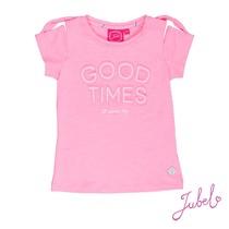T-shirt good times discodip roze