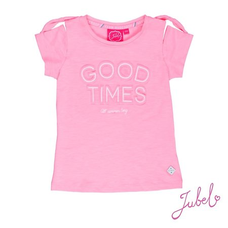Jubel Jubel T-shirt good times discodip roze