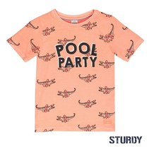 T-shirt aop pool party zalm