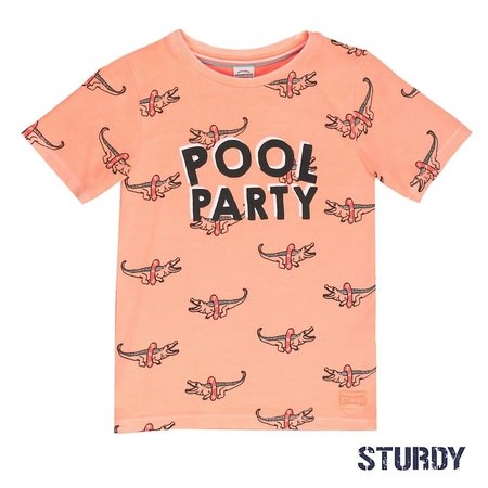 Sturdy Sturdy T-shirt aop pool party zalm