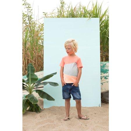 Sturdy Sturdy T-shirt panels pool party neon oranje