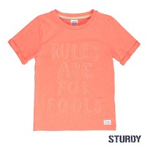 T-shirt rules pool party neon oranje