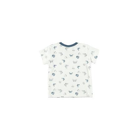 Bampidano Bampidano T-shirt ao print v-neck navy ao