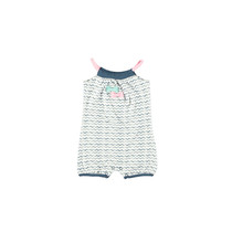 Jumpsuit sleeveless printed wavy stripe navy ao