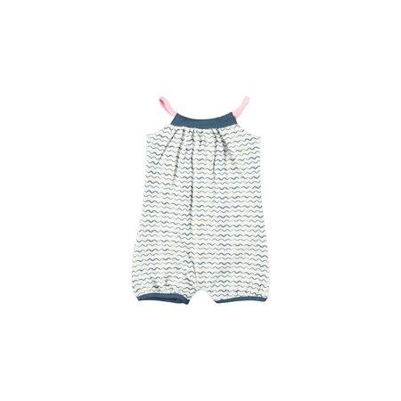 Bampidano Bampidano jumpsuit sleeveless printed wavy stripe navy ao
