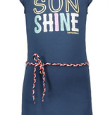 Bampidano Bampidano jurk ruffle plain + waist cord navy