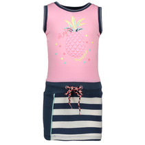 Jurk sleeveless multi pink
