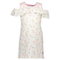 Jurk sleeveless ao print pink