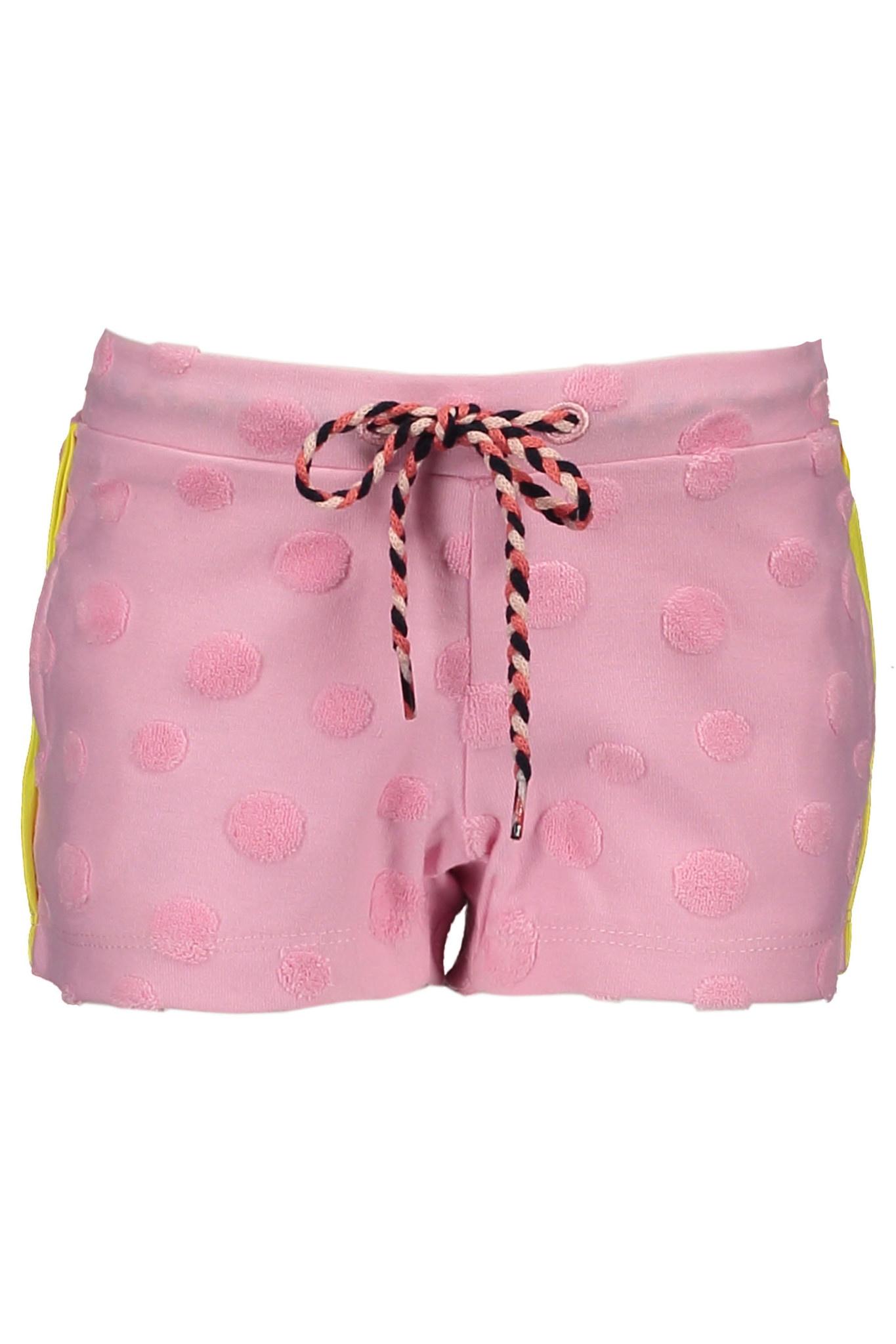 Bampidano Bampidano short fancy fabric + knitted stripe tape pink