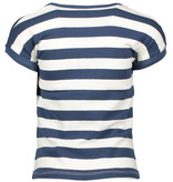 Bampidano Bampidano T-shirt stripe + panel dot print navy